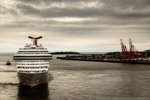 Cruise Ship in Saint John Harbour