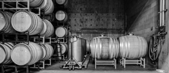 Wine barrels at Cedar Creek Winery