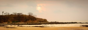 sunset over playa tamarindo