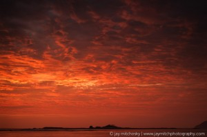Fire in the Sky, Capitan Island, Tamarindo Bay, Costa Rica