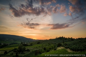 Sunset Over the Hills of Tuscany