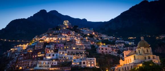 Positano, Italy at Dusk