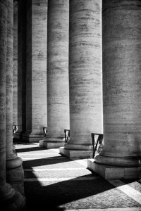 pillars in Vatican City